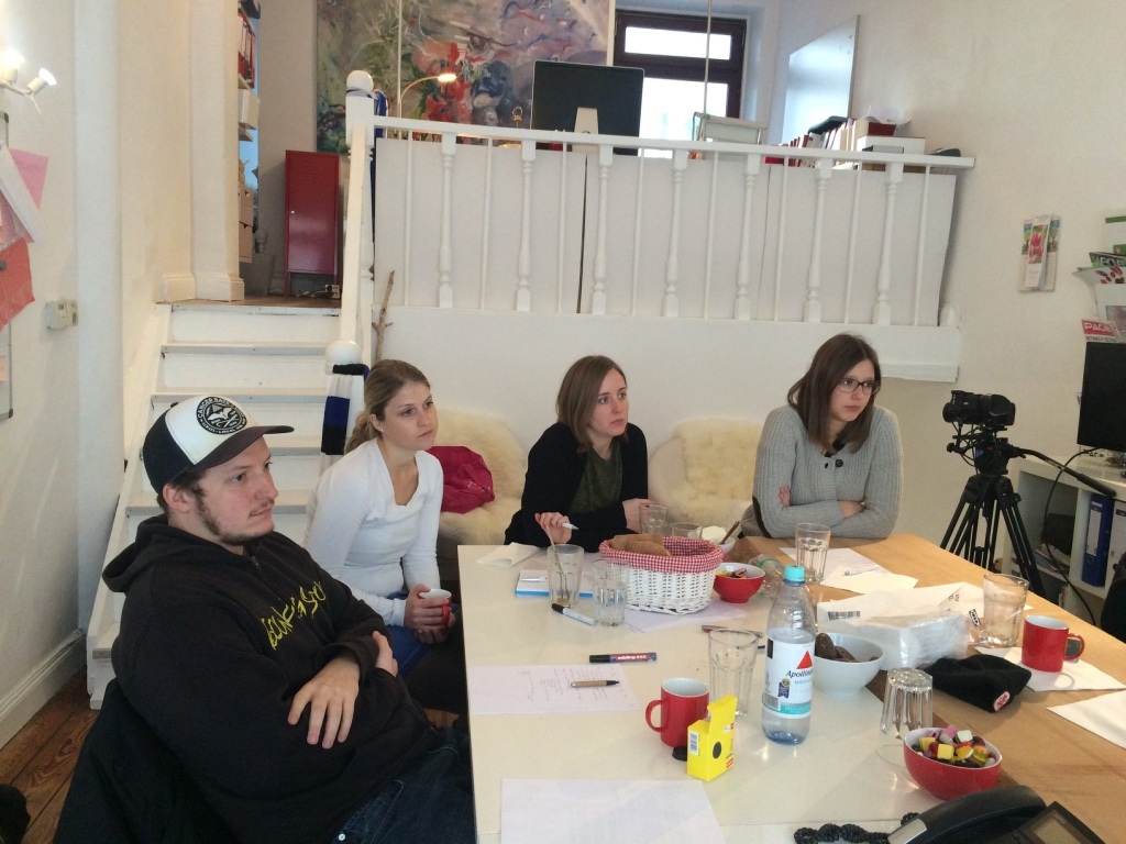 Initivative-Media-Team beim Filmworkshop