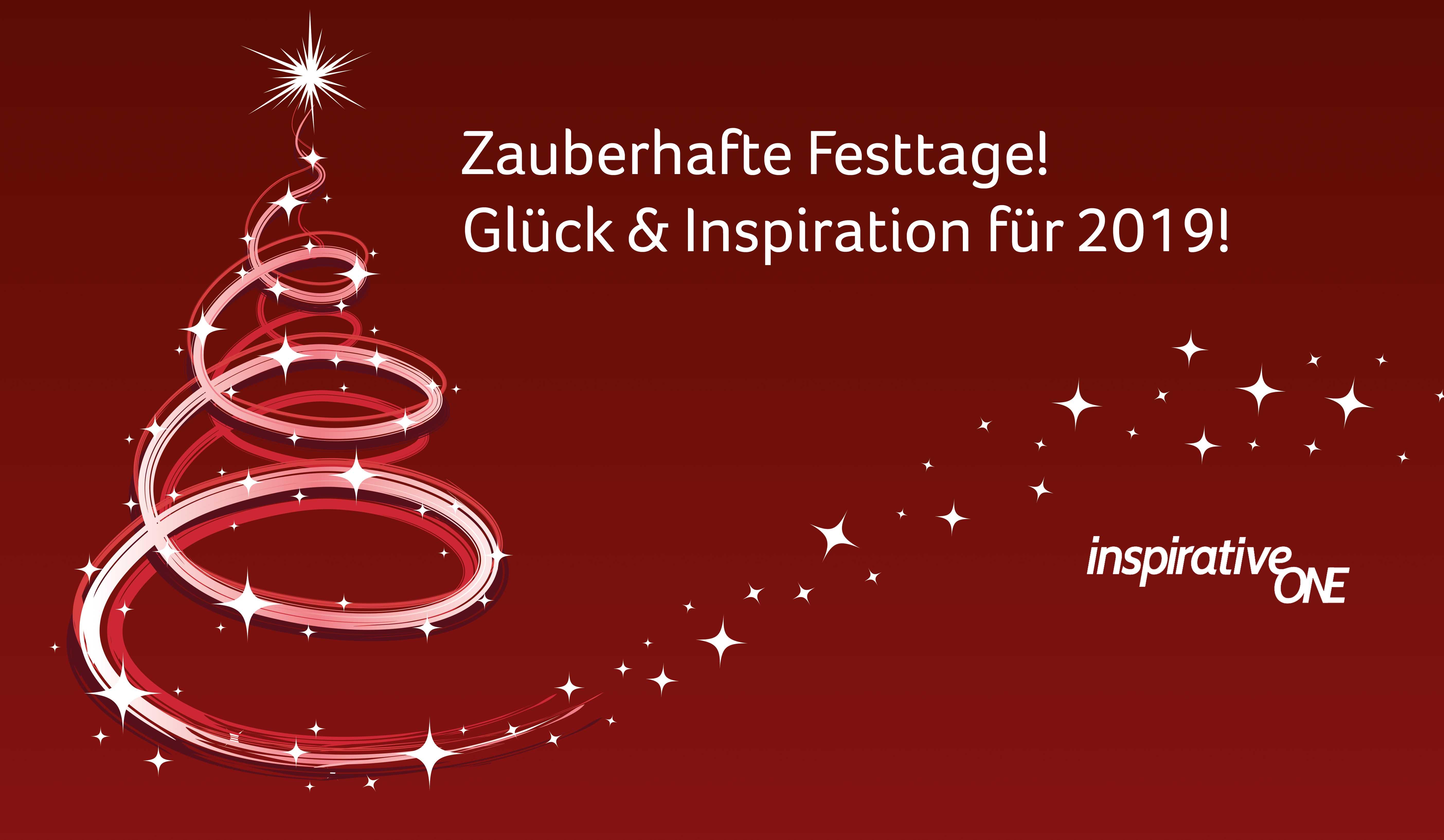 Zeichnung Weihnachtsbaum und Sternenstaub - gezeichnet mit schwungvollem Strich