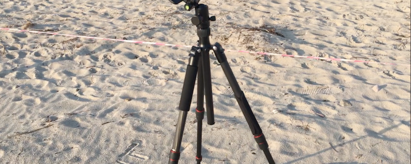 Rollei Stativ mit Iphone am Strand