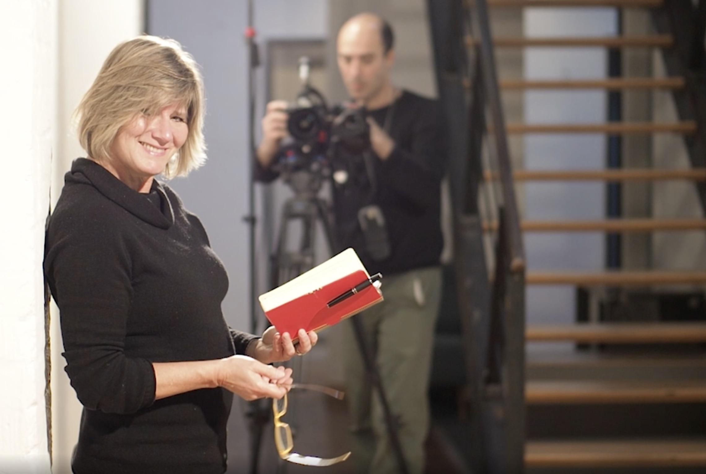 Karin Steinhage und Kameramann