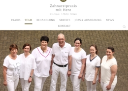 Webseite Zahnärzte-Team